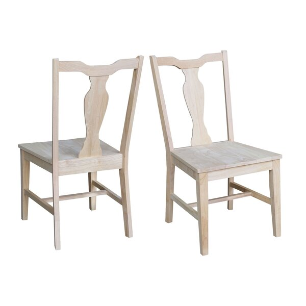 Sproul Panel Back Solid Wood Dining Chair (Set Of 2) By August Grove