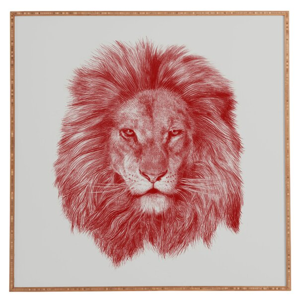Leo Framed Photographic Print by Wrought Studio