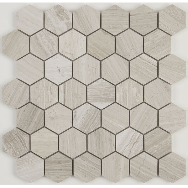 Oxford 13 x 13 Limestone Mosaic Tile in Chenille White by Itona Tile