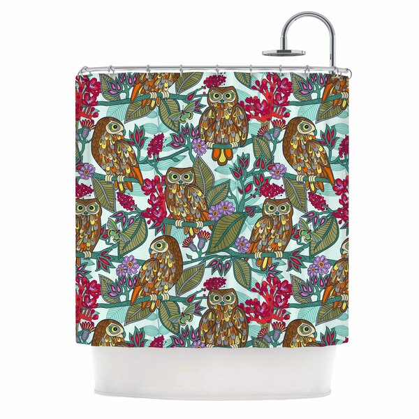 My Bookbooks Owls by Julia Grifol Shower Curtain by East Urban Home