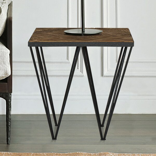 Punta Reclaimed Elm Wood End Table by Magari