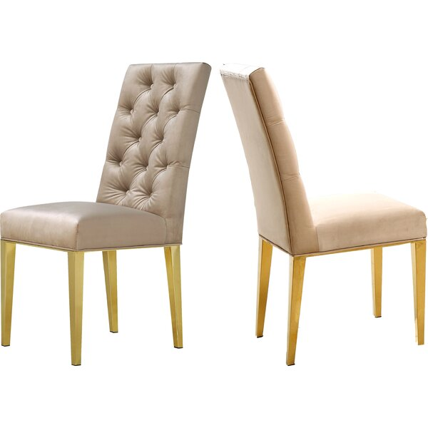 Lilly Upholstered Dining Chair (Set Of 2) By Everly Quinn