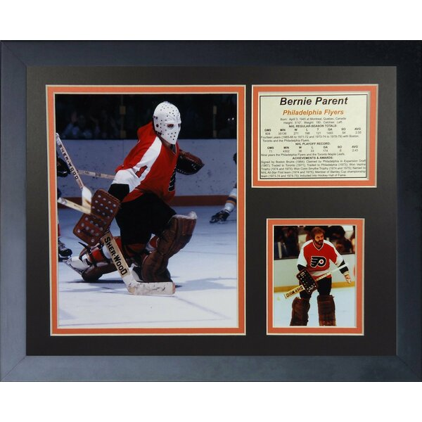 Bernie Parent - Philadelphia Flyers Framed Memorabilia by Legends Never Die
