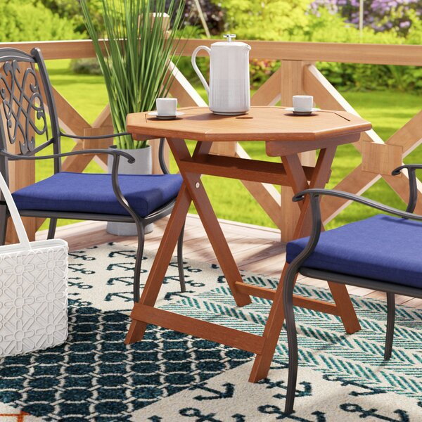 Rothstein Octagonal Wooden Folding Dining Table by Beachcrest Home Beachcrest Home