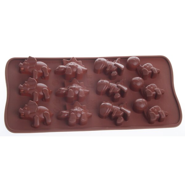 Non-Stick Cool Silicone Dino Chocolate Mould (Set of 2) by MyCuisina