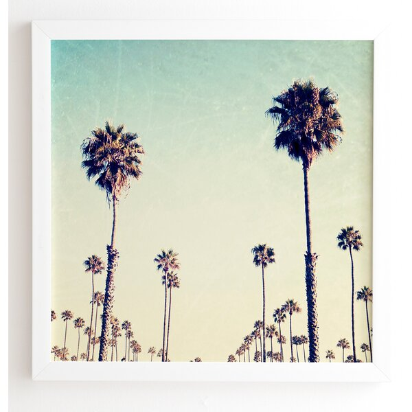 California Palm Trees Framed Photographic Print by East Urban Home