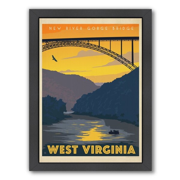 West Virginia Framed Vintage Advertisement by East Urban Home