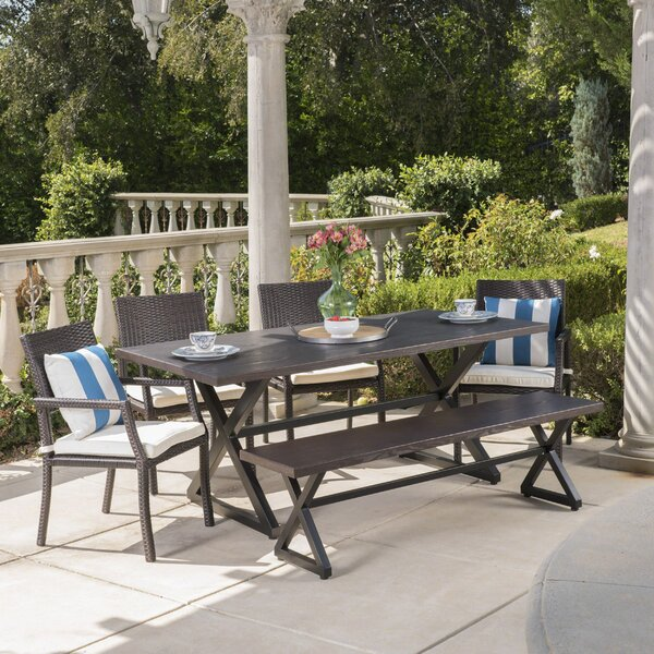 Pawlak 6 Piece Dining Set with Cushions