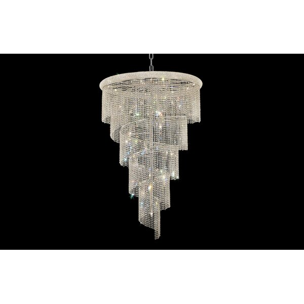 Zonia 29 - Light Unique / Statement Tiered Chandelier By House Of Hampton