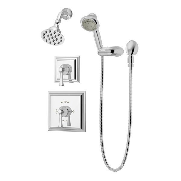 Canterbury Thermostatic Handheld and Fixed Shower Faucet Trim with Lever Handles by Symmons Symmons