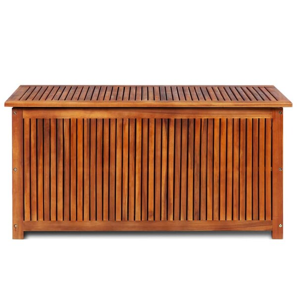 Acacia Solid Wood Deck Box By Symple Stuff