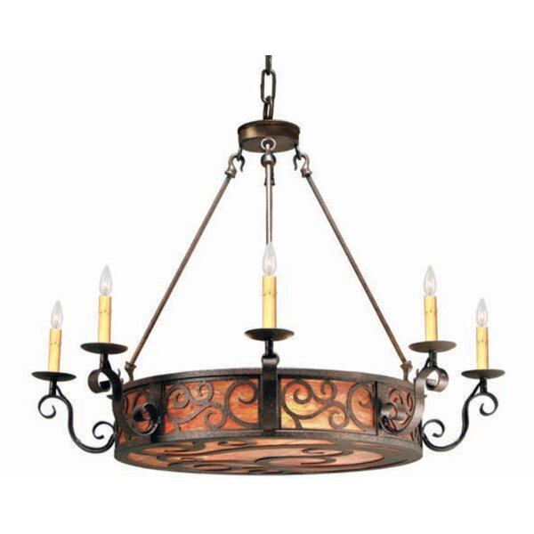 11 - Light Candle Style Wagon Wheel Chandelier by 2nd Ave Design 2nd Ave Design