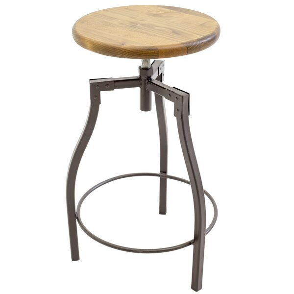 Himrod Adjustable Height Swivel Bar Stool by Williston Forge