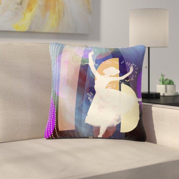 AlyZen Moonshadow Ballet Outdoor Throw Pillow by East Urban Home