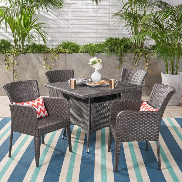 Idaho Falls Outdoor 5 Piece Dining Set by August Grove