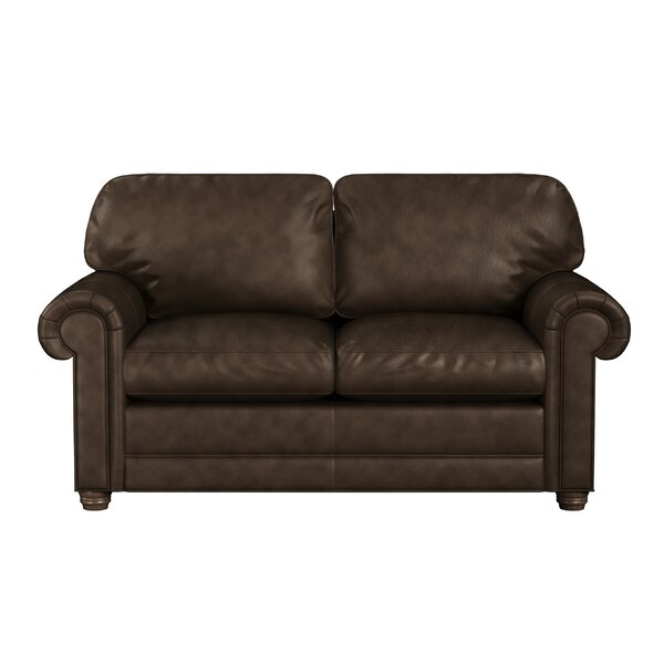 Oslo Leather Loveseat by Westland and Birch Westland and Birch