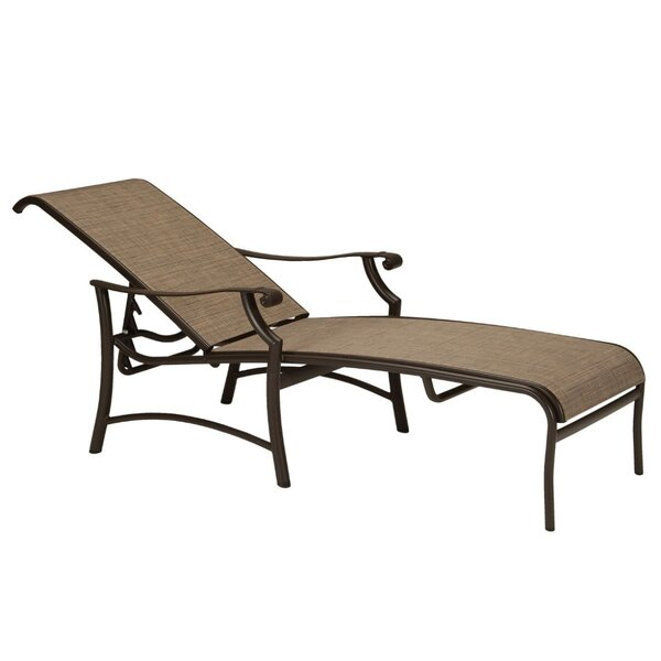 Montreux II Sling Reclining Chaise Lounge by Tropitone Tropitone