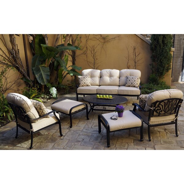 Burgan 6-Piece Sofa Set with Cushions and Pillows by Canora Grey