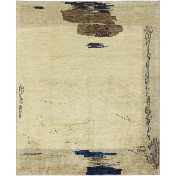 One-of-a-Kind Laveder Hand-Woven Wool Beige Area Rug by Orren Ellis