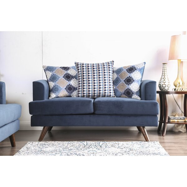 Landover 61'' Recessed Arm Loveseat Sofa Bed By Everly Quinn