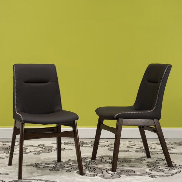 Phyllis Upholstered Dining Chair (Set of 2) by Wrought Studio