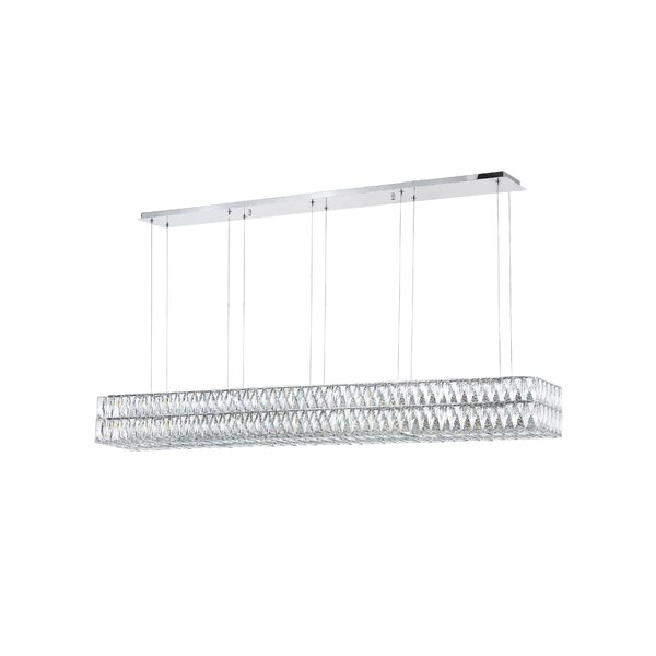 Willa 1-Light LED Rectangle Chandelier By CWI Lighting