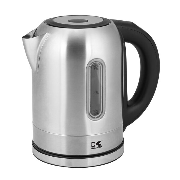 1.8-qt. Stainless Steel Electric Tea Kettle in Silver by Kalorik