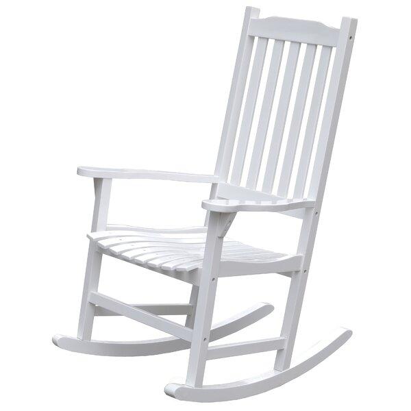 Swinton Wooden Indoor/Outdoor Rocking Chair by August Grove