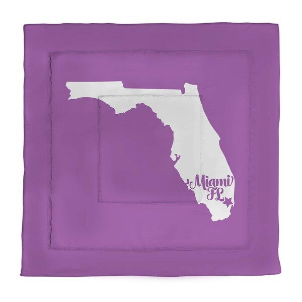 Miami Florida Single Reversible Comforter