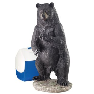 Fishing For Trouble Bear Statue