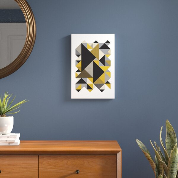 Triangles Org Graphic Art on Wrapped Canvas by Langley Street