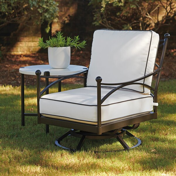 Pavlova Swivel Patio Chair with Sunbrella Cushions by Tommy Bahama Outdoor