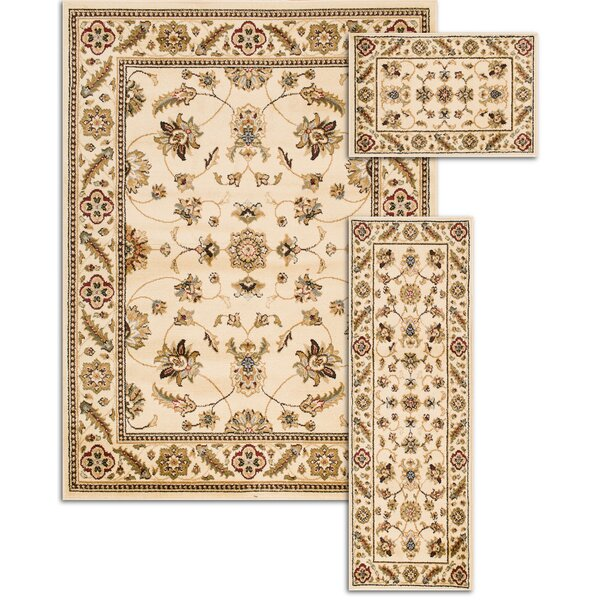 Penfield Ivory 3 Piece Area Rug Set by Threadbind