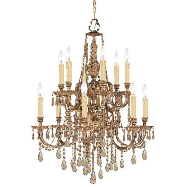 Rossiter 12 - Light Candle Style Tiered Chandelier by House of Hampton House of Hampton