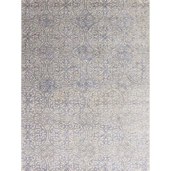 Pigg Hand-Tufted Ink Blue Area Rug by Bloomsbury Market
