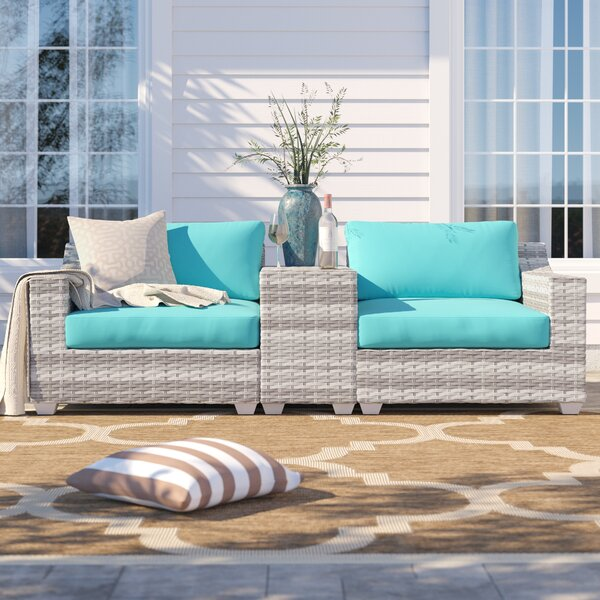 Falmouth 3 Piece Rattan Conversation Set with Cushions by Sol 72 Outdoor