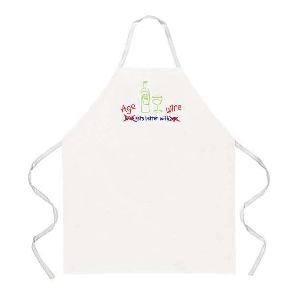 Age Gets Better with Wine Apron by Attitude Aprons by L.A. Imprints