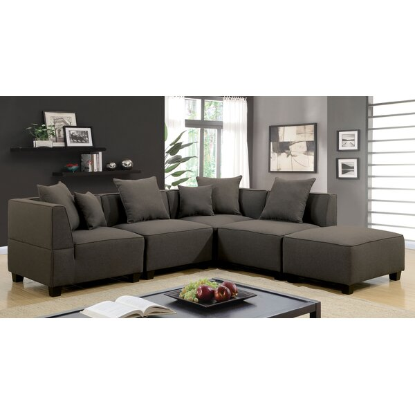 Gilson Contemporary Modular Sectional with Ottoman by Ebern Designs