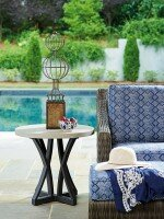 Del Mar Stone/Concrete Side Table by Tommy Bahama Outdoor