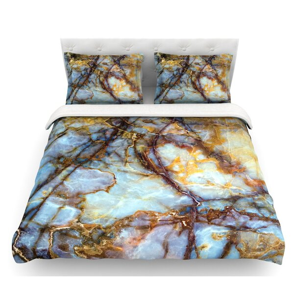 Opalized Marble  Featherweight Duvet Cover by East Urban Home