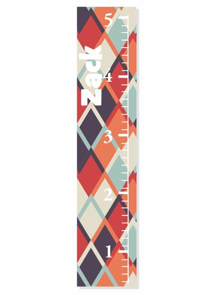 Checker Growth Chart by Decor Designs  Decals