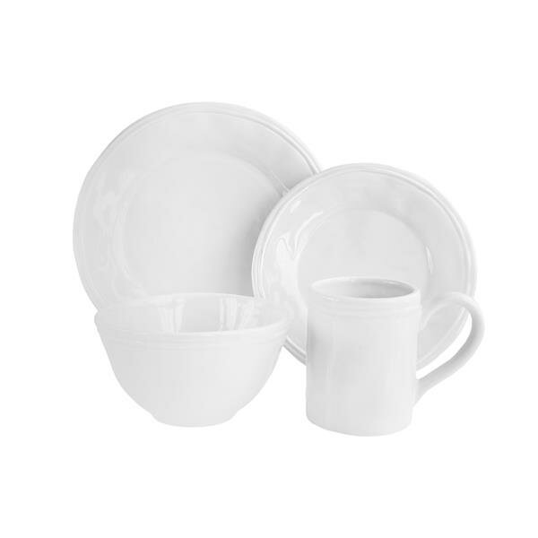 Adelange 16 Piece Dinnerware Set, Service for 4