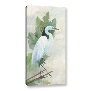 'Standing Egret I Crop' Painting Print on Wrapped Canvas by Bay Isle Home