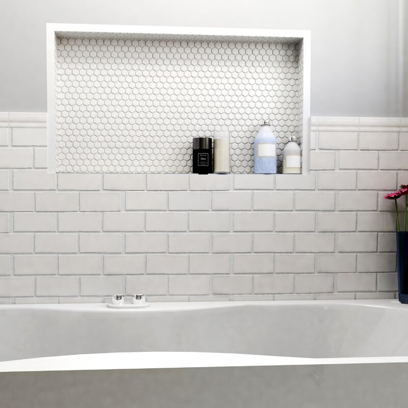Antiqua 3 X 6 Ceramic Subway Tile In Craquelle White