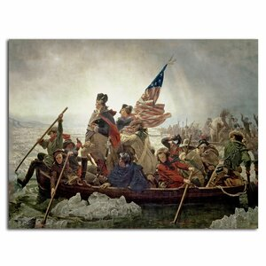 Washington Crossing Delaware River in 1776 by Emanuel Leutze Painting Print on Rolled Wrapped Canvas by Trademark Fine Art