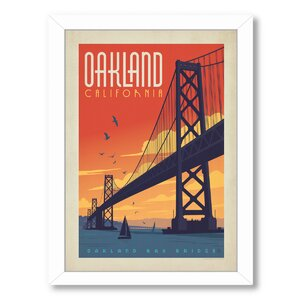 Oakland Framed Vintage Advertisement by East Urban Home
