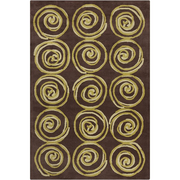 Millwood Hand Tufted Wool Green/Brown Area Rug by Latitude Run