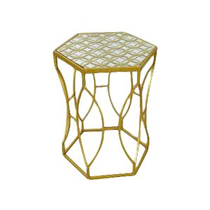 Darcy Metal End Table by TLC Home
