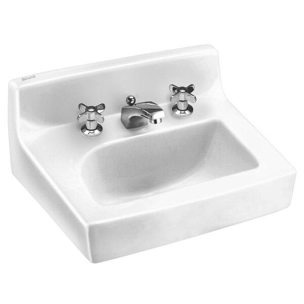Penlyn Ceramic 18 Wall Mount Bathroom Sink with Overflow by American Standard