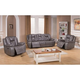 Fae Leather Match Reclining Living Room Set by Red Barrel Studio®